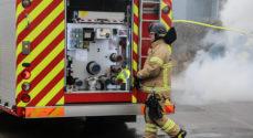 Brand i lade på Nordals