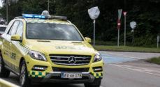 Akutbil skyld i færdselsuheld