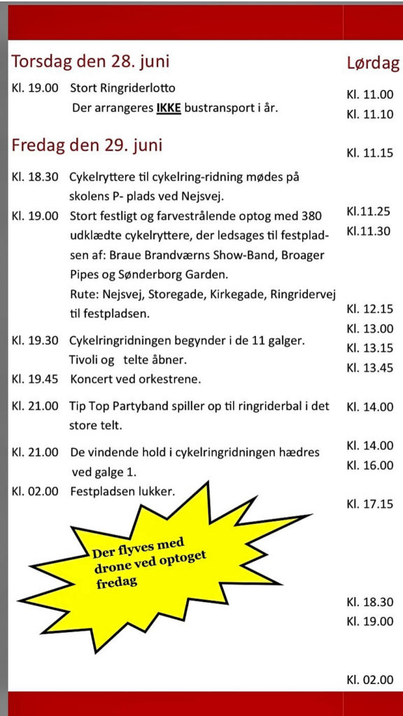 Fredagsprogrammet For Broager Ringridning Sønderborgnyt