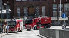 Brandbiler ved Borgen i nat