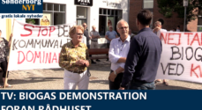 TV: Biogas-demonstration foran Rådhuset
