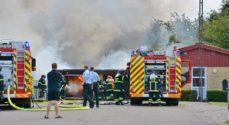 Carport i Havnbjerg er udbrændt