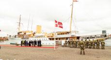 Billeder: Kongeskibet sejlede Dronningen til Sønderborg