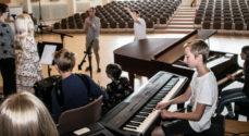 Billeder: Børn øver inden fredagens koncert