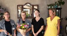 Jacobsen Blomster: Hjemmeplejen på Nordals hentede den velfortjente buket