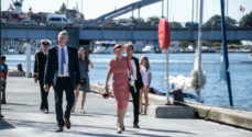 Dronningen besøgte Byens Havn