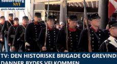 TV: Den Historiske Brigade og Grevinde Danner ankommer til Rådhuset