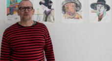 Stig Aunfelt udstiller sine tankevækkende tegninger