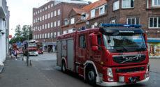 Udrykning: Heldigvis var der ikke brand i Jernbanegade