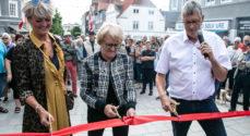 Snoren til Sønderborgs nyrenoverede gågade er klippet