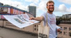 Soroptimisterne tidligt på gaden med klimahåb og Verdens Bedste Nyheder