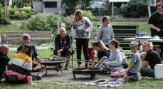 Billeder: Parkunderholdning i Broager