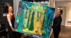 Pragtfuldt kunstværk - My Green Day - på Knæk Cancer-auktion hos Park by Mens Cut