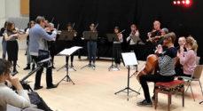 Musikskolens Kammerorkester spiller i Sct. Marie Kirke