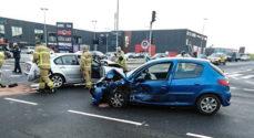 Trafik-uheld: Bilerne er totalskadede - men der er ingen personskader