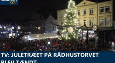TV: Juletræet på Rådhustorvet blev tændt