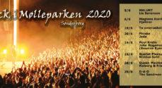 Rock i Mølleparken 2020 byder på 16 koncerter
