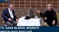 TV: Sara Blædel besøgte Brecklings Bogcafé