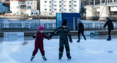 Billeder: Årets næstsidste skøjtedag