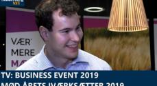 TV: Business Event 2019 – mød årets iværksætter 2019