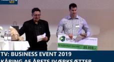 TV: Business Event 2019 – kåring af Årets Iværksætter 2019