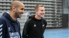 Simon Poulsen sagde hej til børnene i Sønderborg Futsals fodboldskole