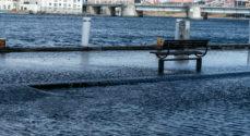 Billeder: Nu står der vand i Sønder Havnegade