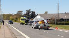 Nordborg: 26-årig cyklist fik hovedtraumer efter sammenstød med bil