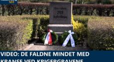 VIDEO: De faldne mindet med kranse ved Krigergravene