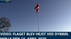 VIDEO: Flaget blev hejst ved Dybbøl Mølle den 18. april 2020