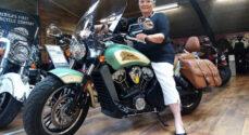 76-årige Aase Bondes motorcykeltur Danmark rundt slutter på søndag i Vollerup