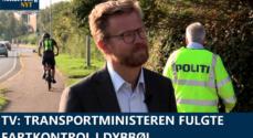 TV: Transportministeren fulgte fartkontrol i Dybbøl
