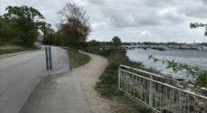 Ny højvandsmur til 950.000 kroner etableres langs med Fiskenæsvej i Gråsten