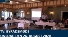 VIDEO: Byrådsmøde – onsdag den 26. august 2020