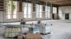 Kasernens gymnastiksal under stor forandring