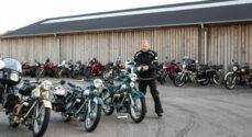 Motorcyklister starter onsdagsturene fra Sundhalle
