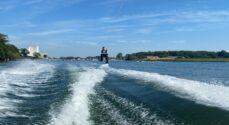 I weekenden kan du prøve vandski, wakeboard og kneeboard i Augustenborg Vandskiklub