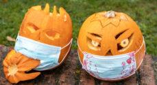 Halloween-græskar i Coronaens tegn - se billederne